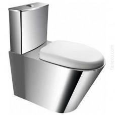 KOMPAKT WC stojący ze stali nierdzewnej z deską PVC