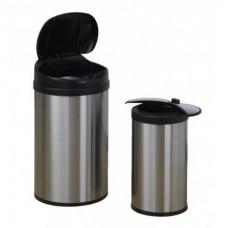 Bezdotykowe Kosze na śmieci, zestaw 40 L + 12 L ,COMBO