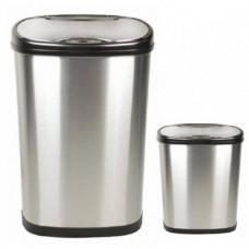 Bezdotykowe Kosze na śmieci, zestaw 50 L + 12 L ,COMBO