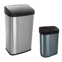 Bezdotykowe Kosze na śmieci, zestaw 50 L + 15 L ,COMBO