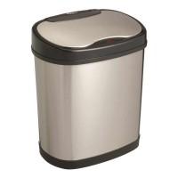Bezdotykowy automatyczny kosz na śmieci owalny 12 litrów stal