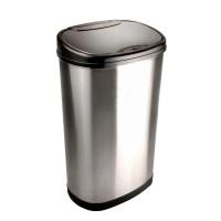 Bezdotykowy automatyczny kosz na śmieci owalny 50 litrów