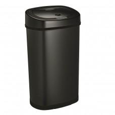 Bezdotykowy automatyczny kosz na śmieci czarny 50 litrów