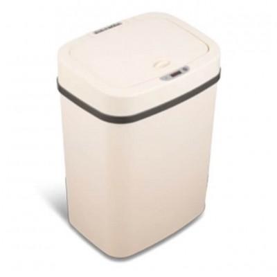 Bezdotykowy inteligenty kosz na odpady 12 litrów z tworzywa beżowy