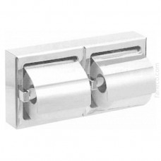 Naścienny pojemnik na papier toaletowy podwójny stal szlachetna połysk