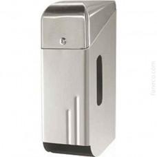 Pojemnik na papier toaletowy potrójny stal szlachetna matowa