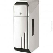 Pojemnik na papier toaletowy potrójny stal szlachetna połysk