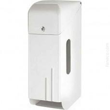Pojemnik na papier toaletowy potrójny biały