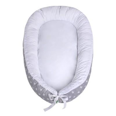 LULANDO Kokon dla dziecka, Biały w Gwiazdki, 80x45 cm
