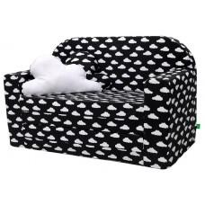 LULANDO Sofa Classic, Chmurki Białe na Czarnym Tle