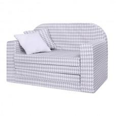 LULANDO Sofa Classic, Romby Szaro-Białe
