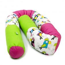 LULANDO Wałek do łóżeczka, Papugi, 190 cm