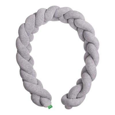 Lulando Ochraniacz - braid welur, szary, 200 cm